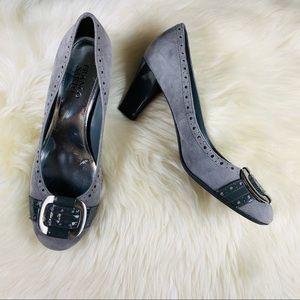 Franco Sarto Grey Suede Heels 9.5 women's